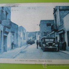 Postales: S.FELIU DE CODINAS Nº4 .PARADA DE AUTOS. ED. CRISTOBAL NAVARRO. CIRCULADA 1945. Lote 39119944