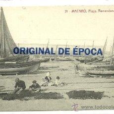 Postales: (PS-36264)POSTAL DE MATARO-PLAYA.REMENDANDO LAS REDES. Lote 39137757