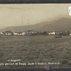 Postales: ROSAS - VISTA PARCIAL DESDE EL MOLL - FARGNOLI FOTOGRAFICA - (17555). Lote 39169092