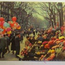 Postales: POSTAL RAMBLAS DE LAS FLORES, BARCELONA. Lote 39175436