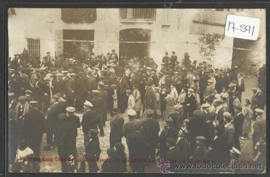 VALLIRANA - CASA CONSISTORIA FIESTA DE LA BANDERA SOMATEN 25 MARZO DE 1915 - FOTO ALOY - (17591) segunda mano