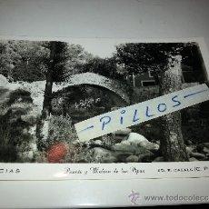 Postales: TARJETA POSTAL ANTIGUA DE ARBUCIAS, PUENTE Y MOLINO DE LAS PIPAS. Lote 39176834