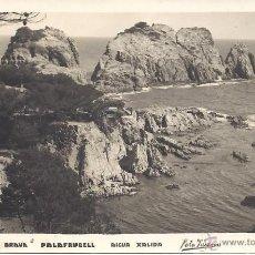 Postales: PS1201 PALAFRUGELL 'AIGUA XALIDA'. FOTO PUIGNAU. POSTAL FOTOGRÁFICA. CIRCULADA EN 1950. Lote 39487478