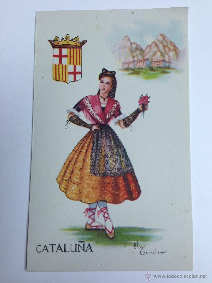 57eaea547019d TARJETA POSTAL TRAJE REGIONAL DE CATALUÑA - AÑOS 50 (Postales - España -  Cataluña Moderna
