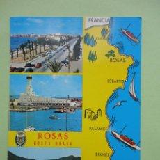 Postales: ROSAS, COSTA BRAVA . GIRONA, ED. ARRIBAS. Lote 39737164