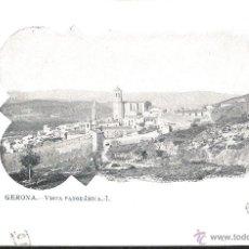 Postales: POSTAL GERONA VISTA PANORAMICA I IMP FRANQUET NÚM 14 CIRCULADA EN 1904. Lote 39820876
