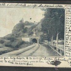 Postales: CALELLA - TUNEL Y PUENTE DEL FARO - A.MAURI - REVERSO SIN DIVIDIR (17799). Lote 39852091