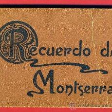 Postales: RECUERDO DE MONTSERRAT , 30 VISTAS TIPO CROMO , ANTIGUAS , VER FOTOS , ORIGINAL. Lote 39879581