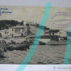 Postales: CADAQUES GIRONA. ANTIGUA POSTAL PUBLICITARIA INAGURACIÓN AUTOBUSES LA CADAQUENSE AÑO 1911. Lote 39940893