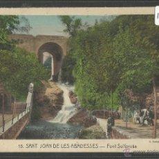 Postales: SANT JOAN DE LES ABADESSES - 15 - FONT SOLFOROSA- ROISIN - (17941). Lote 39971892