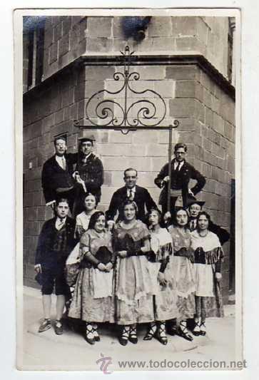 SALLENT (BARCELONA). GRUP ESBART DANSAIRE AL POBLE ESPANYOL ANY 1931. FOTOGRÀFICA. (Postales - España - Cataluña Antigua (hasta 1939))