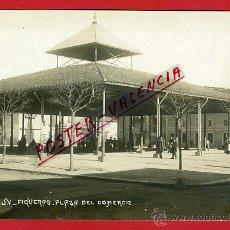 Postales: POSTAL FIGUERAS , GERONA , PLAZA DEL COMERCIO , FOTOGRAFICA , ORIGINAL , P90377. Lote 40033635