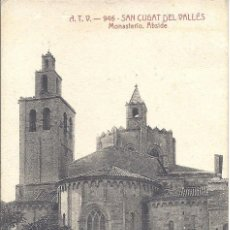 Postales: PS0809 SANT CUGAT DEL VALLÉS 'MONASTERIO. ÁBSIDE'. A.T.V. NÚM. 946. CIRCULADA EN 1908. Lote 40047346