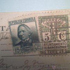 Postales: 19 MONTSERRAT-VISTA DESDE S.JUAN VALLE DE LLOBREGAT-FOT.ROISIN-FRANQUEO REPÚBLICA. Lote 40170700