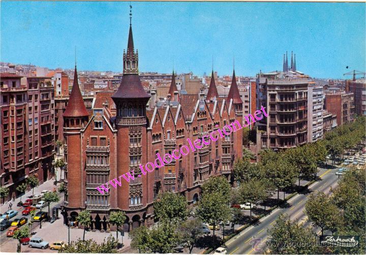 Barcelona la casa de les punxes modernismo comprar postales de catalu a en todocoleccion - Casa de las punxes ...