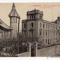 Postales: MANRESA. CASA DE CARIDAD Y CHALET.. Lote 40172005
