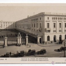 Postales: BARCELONA. ESTACIÓN DE FRANCIA EN CONSTRUCCIÓN. ANIMADA CON COCHES DE ÉPOCA.. Lote 40181041