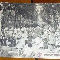 Postales: ANTIGUA POSTAL DE BARCELONA - RAMBLAS - NO CIRCULADA - DIVIDIDA - L. ROISIN. Lote 39520285