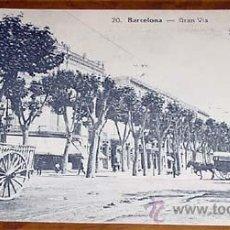 Postales: ANTIGUA POSTAL DE BARCELONA - GRAN VIA - CIRCULADA - DIVIDIDA. Lote 39520287