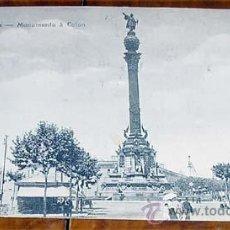 Postales: ANTIGUA POSTAL DE BARCELONA - MONUMENTO A COLON - CIRCULADA - DIVIDIDA. Lote 39520288