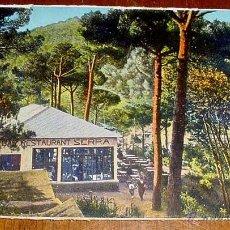 Postales: ANTIGUA POSTAL ALREDEDORES DE BARCELONA - LAS PLANAS DE VALLVIDRERA - RESTAURANT SERRA - ED. L . RO. Lote 39522667