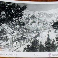 Postales: ANTIGUA FOTO POSTAL DE RIBAS DE FRESER (GERONA) - FOTO VIGO - CIRCULADA EN 1954. Lote 39523941