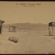 Postales: ANTIGUA POSTAL DE SITGES - TERRAMAR, BAÑOS - Nº 76 - FOT. L. ROISIN - NO CIRCULADA.. Lote 39550767
