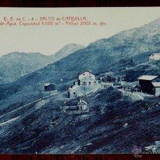 Postales: ANTIGUA POSTAL DE CAPDELLA (LLEIDA), SALTO DE CAPDELLA, CAMARA DE AGUA, CAPACIDAD DE 8000 METROS CU. Lote 39606531