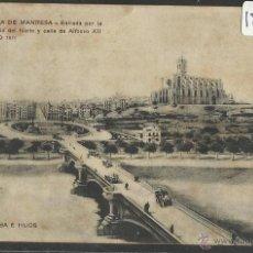 Postales: MANRESA - ENTRADA POR LA ESTACION - JORBA E HIJOS - (18240). Lote 40289090