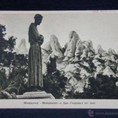 Postales: MONTSERRAT MONUMENTO A SAN FRANCISCO DE ASÍS. Lote 40372927
