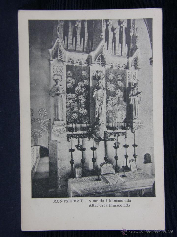 MONTSERRAT ALTAR DE L'IMMACULADA (Postales - España - Cataluña Antigua (hasta 1939))