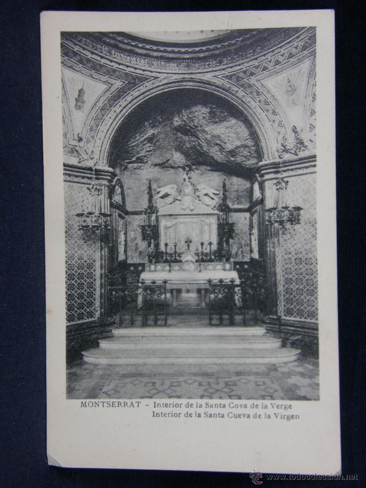 MONTSERRAT INTERIOR DE LA SANTA COVA DE LA VERGE (Postales - España - Cataluña Antigua (hasta 1939))