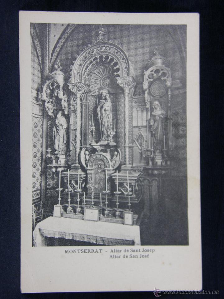 MONTSERRAT ALTAR DE SANTA GERTRUDIS (Postales - España - Cataluña Antigua (hasta 1939))