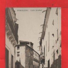 Postales: POSTAL DE POBOLERA CALLE ARRABAL CIRCULADA 1906 EL SELLO ROTO VER FOTOS. Lote 40445967