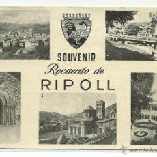 Postales: RIPOLL.-SOUVENIR DE RIPOLL.-MULTIVISTAS,.EDICIONES TIPOGRAFICAS RIPOLLESAS. Lote 40546109