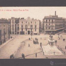 Postales: REUS - 438 BIS. PLAZA DE PRIM - EDICIÓN ATV - CIRCULADA EN 1918. Lote 40649003