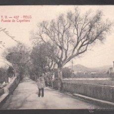Postales: ANTIGUA POSTAL ATV DE REUS - 437 PUENTE DE CAPELLANS - CIRCULADA EN 1906. Lote 40649741
