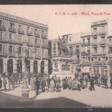 Postales: ANTIGUA POSTAL ATV DE REUS - 438 PLAZA DE PRIM - CIRCULADA EN 1906. Lote 40649796