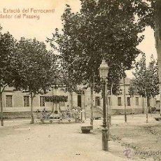 Postales: RRR POSTAL EL VENDRELL - TARRAGONA - ESTACION ESTACIO DEL FERROCARRIL I BROILADOR DEL PASSEIG. Lote 40694043