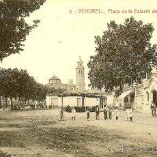 Postales: RRR POSTAL EL VENDRELL - TARRAGONA - PLAZA ESTACION ESTACIO DEL FERROCARRIL. Lote 40694087