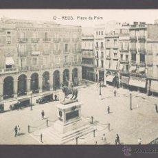 Postales: REUS - 12. PLAZA DE PRIM - 11972 FOTOTIPIA THOMAS, EDICIÓN TRICAZ Y FUMADÓ. Lote 40757160