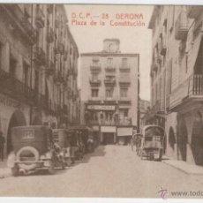 Postales: GERONA. PLAZA DE LA CONSTITUCIÓN. AÑOS 1920. Lote 40779786