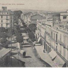 Postales: GERONA. CALLE DE SANTA EUGENIA. AÑOS 1900.. Lote 40780036