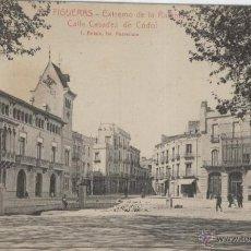 Postais: FIGUERAS. EXTREMO DE LA RAMBLA. CALLE CASADES DE CÓDOL. AÑOS 1930.. Lote 40780511
