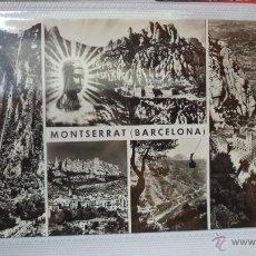 Postales: POSTAL DE MONTSERRAT. BARCELONA. VISTAS DEL MONASTERIO. AÑOS 60. Lote 40781185
