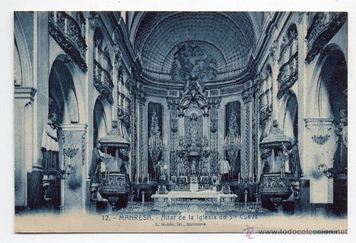 MANRESA. ALTAR DE LA IGLESIA DE STA. CUEVA. (Postales - España - Cataluña Antigua (hasta 1939))