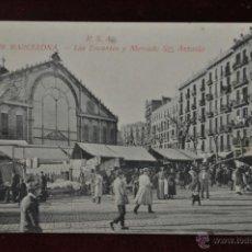 Postales: ANTIGUA POSTAL DE LOS ENCANTES Y MERCADO SAN ANTONIO. BARCELONA. ED. ANGEL TOLDRA. Lote 48399283