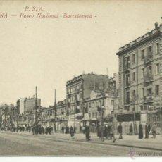Postales: BARCELONA PASEO NACIONAL DE LA BARCELONETA 1909 APROX. ROVIRA SIN USAR. Lote 41132810