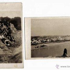 Postales: LOTE DE DOS ANTIGUAS POSTALES FOTOGRAFIAS DE BLANES, GIRONA - SIN CIRCULAR- 1920'S.. Lote 41133433