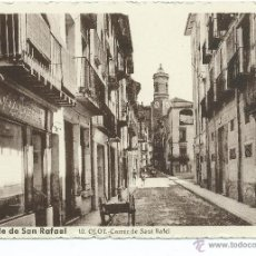 Postales: ANTIGUA POSTAL DE OLOT - CALLE DE SAN RAFAEL. Lote 176808377